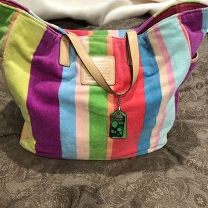 Super Rare COACH Terrycloth Beach Bag